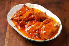 Pork ribs with orange sauce Stock Photos