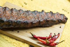 Pork ribs with red pepper Royalty Free Stock Images