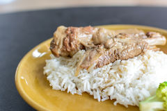 Pork ribs with rice Royalty Free Stock Image