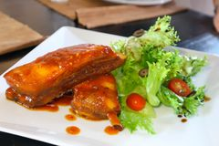 Pork ribs or roasted pork Stock Photos