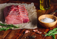Pork Ribs with Rosemary and Other Spices. Pork Ribs with Rosemary and Some Other Spices Royalty Free Stock Image