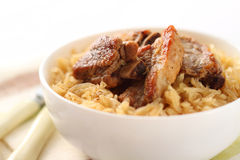 Pork ribs with sauerkraut Stock Photo