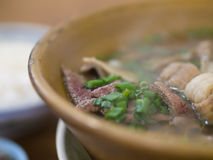 Pork Ribs Soup with Liver Royalty Free Stock Images