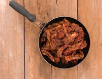 Pork ribs stew on old wood Royalty Free Stock Photography