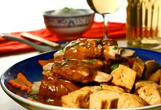 Pork ribs with tofu Royalty Free Stock Image