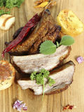Pork ribs  with vegetables Royalty Free Stock Photography
