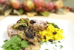 Pork and rice Stock Photo
