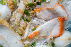 Pork rice noodle soup Stock Photo