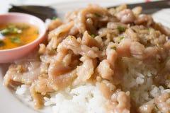 Pork rice Stock Photo