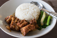 Pork with rice Royalty Free Stock Images