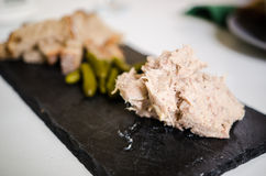 Pork Rillettes with cornichons Royalty Free Stock Photo