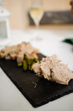 Pork Rillettes with cornichons stock images