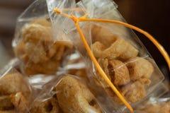 Pork rind favorite food in Thailand stock photos