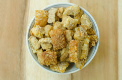 Pork rind. Favorite food in Thailand Stock Photography