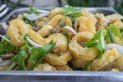 Pork rind salad Stock Photography