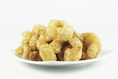Pork rinds also known as chicharon or chicharrones, deep fried p Royalty Free Stock Image