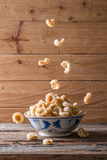 Pork rinds also known as chicharon or chicharrones Stock Images