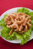 Pork Rinds also known as kap moo in the Thailand Stock Image