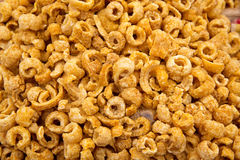 Pork rinds texture pattern snack Royalty Free Stock Photo