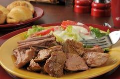 Pork roast close up Royalty Free Stock Image