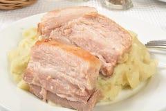 Pork roast closeup royalty free stock photos