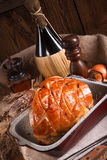Pork roast with crackling Royalty Free Stock Image