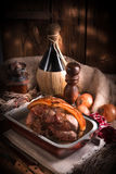 Pork roast with crackling Stock Image