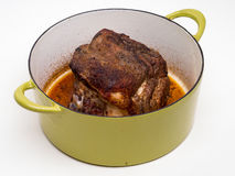 Pork Roast in pot Royalty Free Stock Images