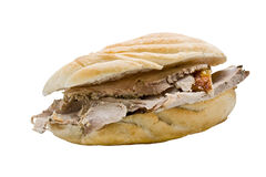 Pork Roast Sandwich Royalty Free Stock Photography
