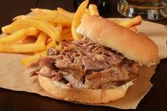 Pork roast sandwich Royalty Free Stock Photos