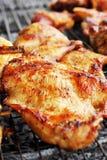 Pork roast on the stove. Stock Photo