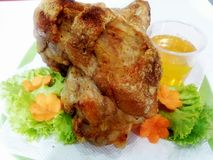 Pork roast. With white background.nPhoto taken Royalty Free Stock Images