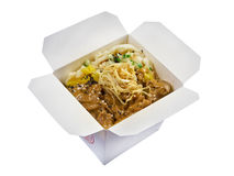 Pork roasted  .take-out food. Pork roasted coating and potato. traditional japanese food in take-out box Stock Photo