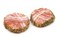 Pork roll stuffed stock images
