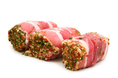 Pork rolls stuffed Royalty Free Stock Images
