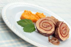Pork roulade Royalty Free Stock Photos