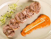 Pork roulade Royalty Free Stock Photography