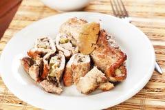 Pork roulades Stock Image