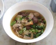 Pork's entrails and blood soup. Famous Asian Soup Stock Image