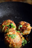 Pork, Sage And Onion Dumplings Royalty Free Stock Photography