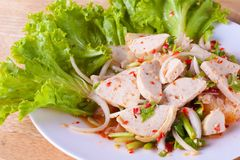 Pork Salad (Yum Moo Yor) Stock Image
