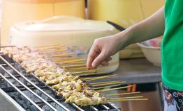 Pork Satay royalty free stock image
