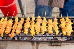 Pork satay grill Stock Photography