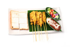 Pork satay Royalty Free Stock Images