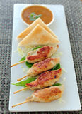 Pork Satay, National dish popular Royalty Free Stock Photography