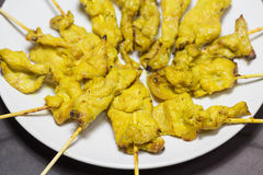 Pork satay popular food in Thailand Royalty Free Stock Image