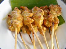 Pork Satay Royalty Free Stock Photography