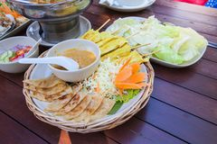 Cuisine Thai food on table Royalty Free Stock Photo