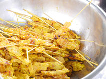 Pork Satays Royalty Free Stock Photography