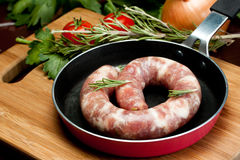 Pork sausage Royalty Free Stock Photos